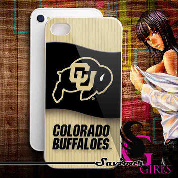 Colorado Buffaloes Basketball for iPhone 4/4S, 5/5S, 5C and Samsung Galaxy S3, S4 - Rubber and Plastic Case