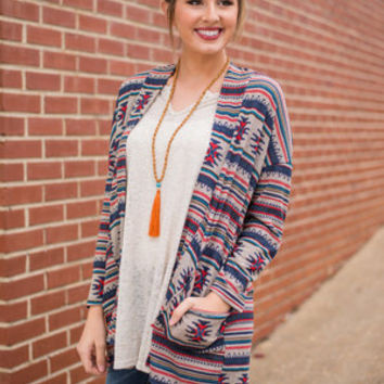 Nothing But The West Cardigan, Navy