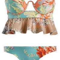 Summer Hot Beach New Arrival Swimsuit Swimwear Print Sexy Ladies Swimming Bikini [4970316484]