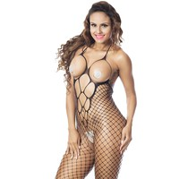 Deksias Crotchless Bodystocking Open Cup Crotchless Bodysuit Sexy Lingerie Nightie