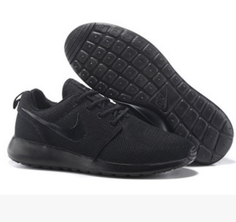 NIKE Women Men Running Sport Casual Shoes Sneakers Pure Black fd83f41ee
