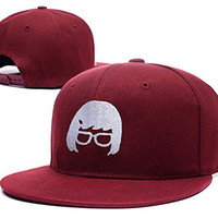 XINMEN Bobs Burgers Animation Comedy Cartoon Fox Series Family Logo Adjustable Snapback Embroidery Hats Caps - Red
