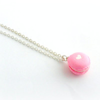 Macaron Necklace, Kitsch Tiny pastel Macaroon, Cute And Kawaii :D