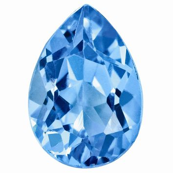 Loose Blue Topaz Gemstone  8x6mm Pear AA Quality