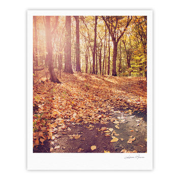"Jillian Audrey ""Autumn Hike"" Orange Brown Fine Art Gallery Print"