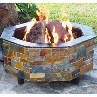 "Do-It-Yourself Ready-to-Finish 54"" Octagon Fire Pit Kit"