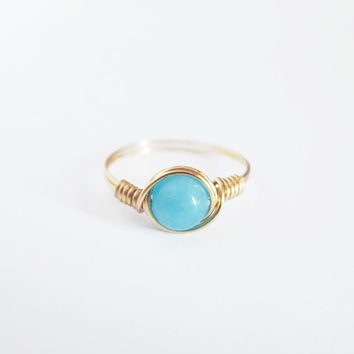 Turquoise Jade Ring - prom rings