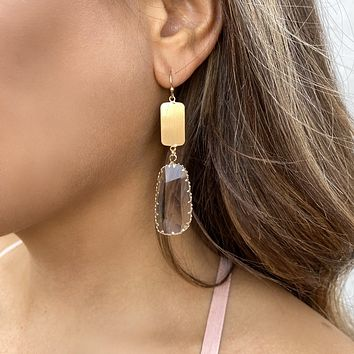 Through The Looking Glass Gold Earrings