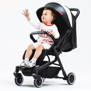 Baby Stroller Ultra-Light Can Ride Can Be Lying Portable Umbrella Folding Mini Four Round Children's Trolley