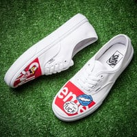 Trendsetter Vans X Supreme Canvas Old Skool Flats Sneakers Sport Shoes