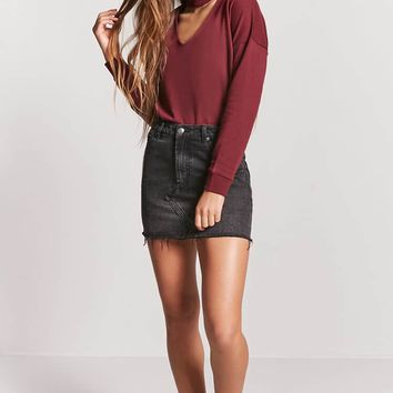 Cutout French Terry Pullover