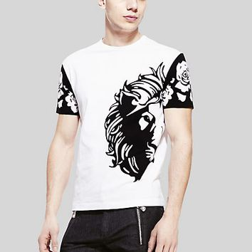 Versace - Lion Head & rose men's t-shirt