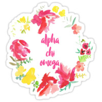 Alpha Chi Omega Floral by rosiestelling