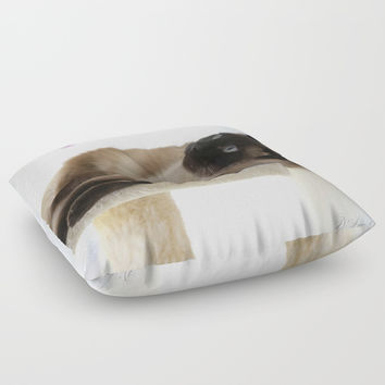 What's Up? Floor Pillow by Theresa Campbell D'August Art