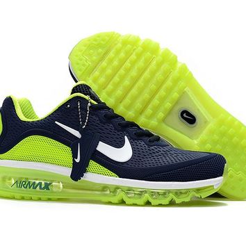 Air Max 2017 Men Shoes Dark blue fluorescent green