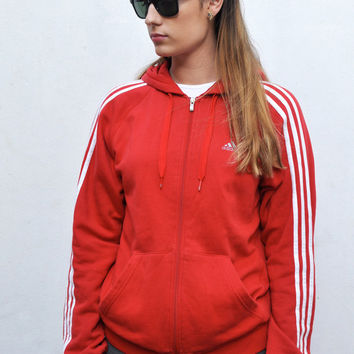 Vintage 90s Retro Adidas Red Sports Jumper