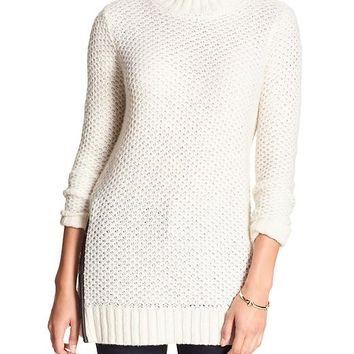 Banana Republic Factory Textured Mock Neck Sweater