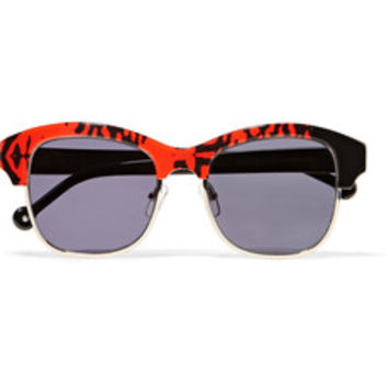 Preen by Thornton Bregazzi Patchy D-frame acetate and metal sunglasses – 50% at THE OUTNET.COM