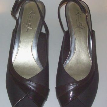 Hush Puppies Brown Size 8.5M Heels Soft Style