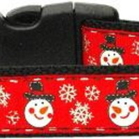 Snowmen Dog Collar Large