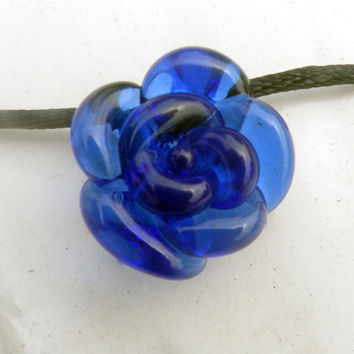 Rose Pendant Necklace Forever Untamed Rose Cobalt by untamedrose