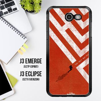 The Maze Runner The Only Way Out Is Within Z0695 Samsung Galaxy J3 Emerge, J3 Eclipse , Amp Prime 2, Express Prime 2 2017 SM J327 Case