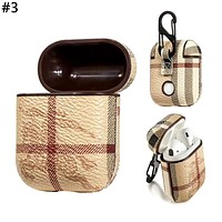 Supreme & GUCCI LV & Burberry Tide brand men and women AirPods wireless Bluetooth headset holster #3
