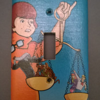 Comic light switch cover Scooby Doo