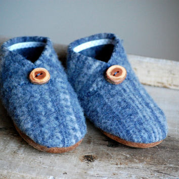 Toddler Shoes, Children Slippers, Eco Friendly, kids size 7.5, Still Winter