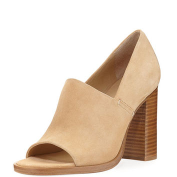 Rag & Bone Myra Peep-Toe Slip-On Sandal, Camel