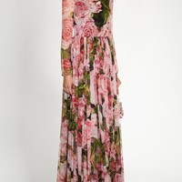 Rose-print chiffon gown | Dolce & Gabbana | MATCHESFASHION.COM US