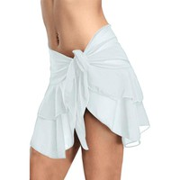 Ruffle Skirt Beach Cover Up Mini Skirt