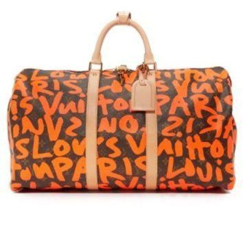 PEAPYD9 Louis Vuitton Sprouse Keepall Bag (Previously Owned)