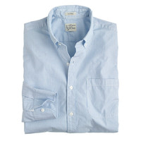 J.Crew Mens Secret Wash Shirt In Neon Azure Stripe