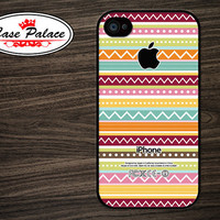iphone 4 Case - iphone 4S Case Cover - plastic or silicone rubber - Aztec pattern