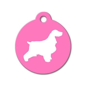 English Cocker Spaniel - Silhouette Pet Tag