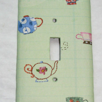 Light Switch Cover - Light Switch Plate Teapot Kitchen Decor