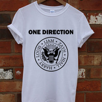 Hot One Direction Ramones Shirt 1 Direction Shirt Black And White RF-8