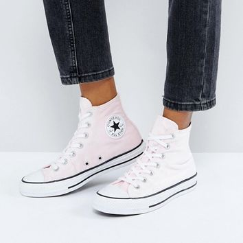 Converse Chuck Taylor All Star Velvet Hi Top Sneakers In Pink at asos.com