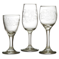 Alice in Wonderland Stemmed Glass Set