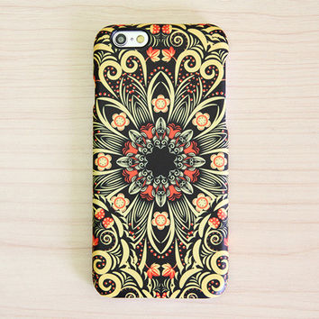 Bright ornament floral style iPhone 6 Plus/6/5S/5C/5/4S/4 Protective Case #333
