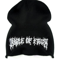 Cradle of Filth Beanie Extreme Metal Clothing Knit Cap