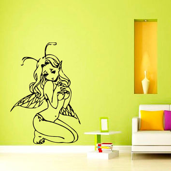 Wall Vinyl Decal Sticker Elfy Girl Beauty Saloon Art Design Room Picture Elegancy Hall Wall Chu1042