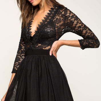 Mya Mesh Lace Dress