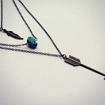 arrow layer necklace