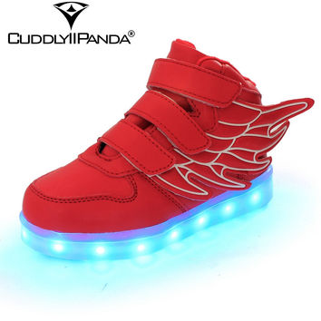New Led Light Shoes for Kid Boys Girls Emitting Shoes Children Luminous Casual Shoes USB Charging Chaussures