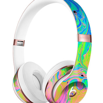 Neon Color Swirls Full-Body Skin Kit for the Beats by Dre Solo 3 Wireless Headphones