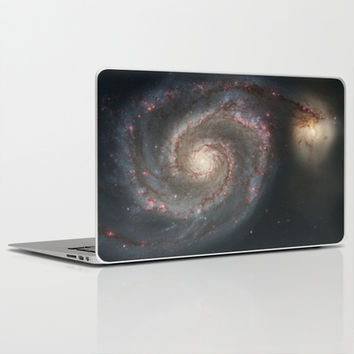 Bright spiral nebula galaxy stars hipster geek cool space star nebulae NASA photo sci-fi landscape Laptop & iPad Skin by iGallery