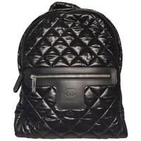 Chanel Nylon Backpack (Black, Size - OS)