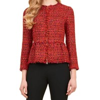 Luisa Spagnoli Santander Red Wool Jacket